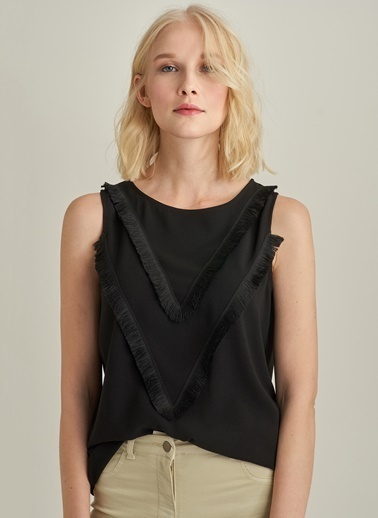 Ng Style Püskül Detaylı Bluz Siyah